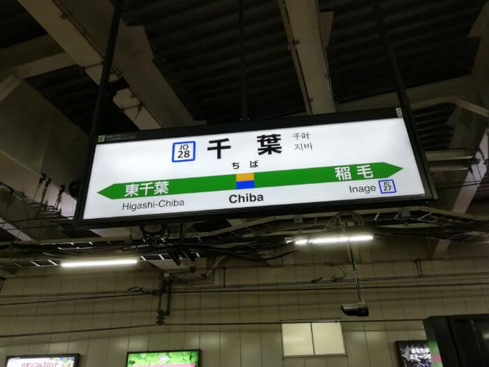 千葉駅の看板