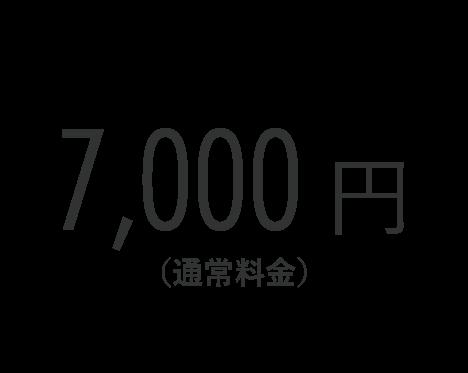 7,000円(通常料金)
