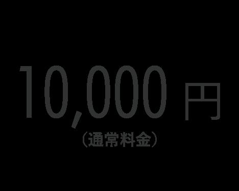 10,000円(通常料金)
