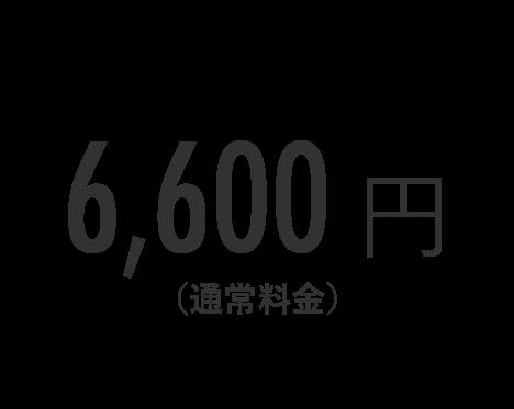6,600円(通常料金)