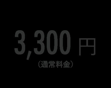 3,300円(通常料金)