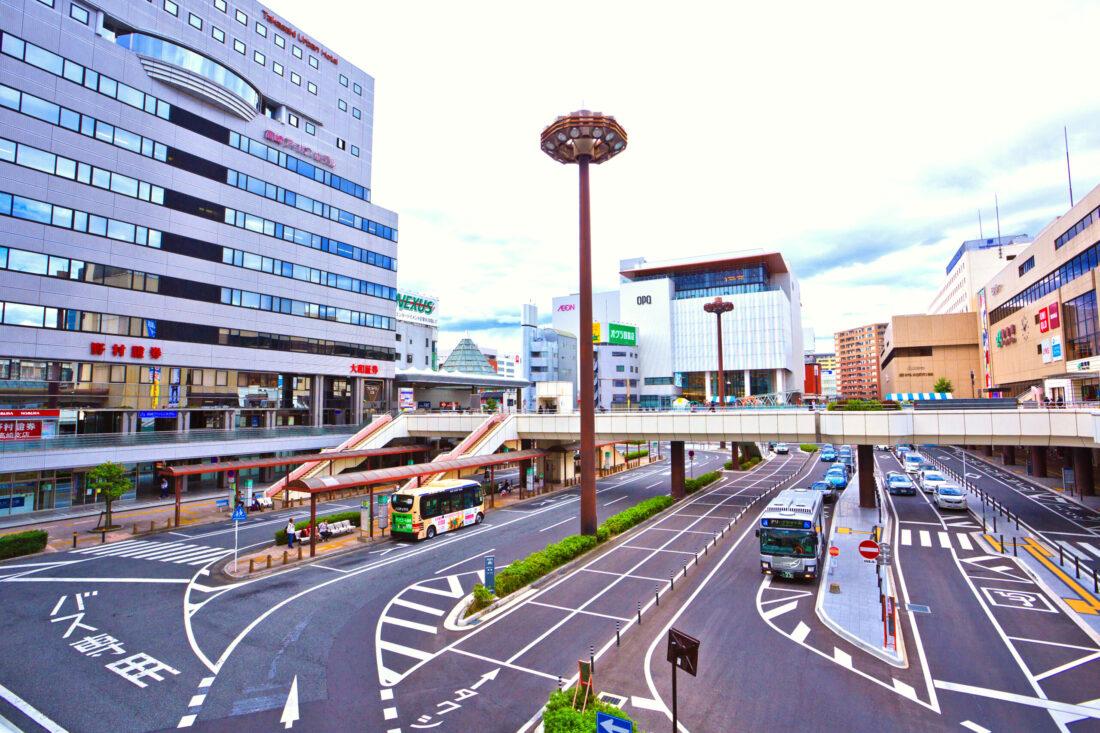 高崎駅の看板